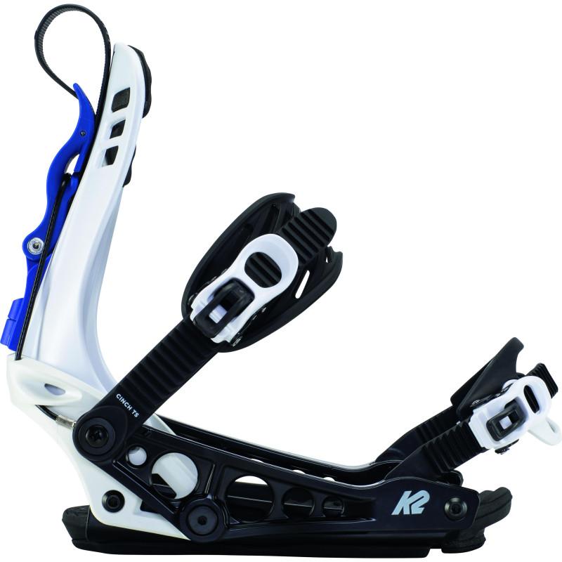 Fixations de Snowboard K2 Cinch Ts White Homme