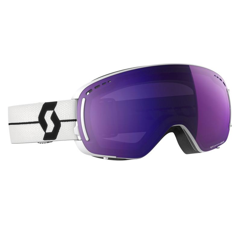Masque de Ski / Snow Scott LCG Compact LS white/black light sensitive blue chrome