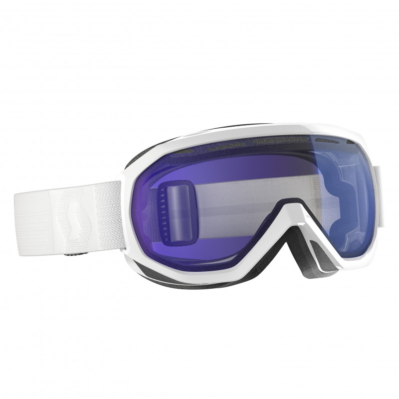 Masque de Ski / Snow Scott Notice OTG white illuminator blue chrome