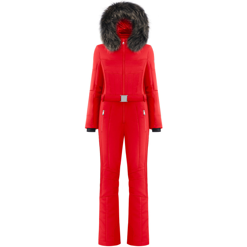 Combinaison de ski Poivre Blanc stretch 0830-WO/B Scarlet Red3 Femme
