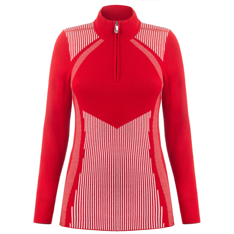 Pull en maille graphique Poivre Blanc 3540-WO  Scarlet Red Femme