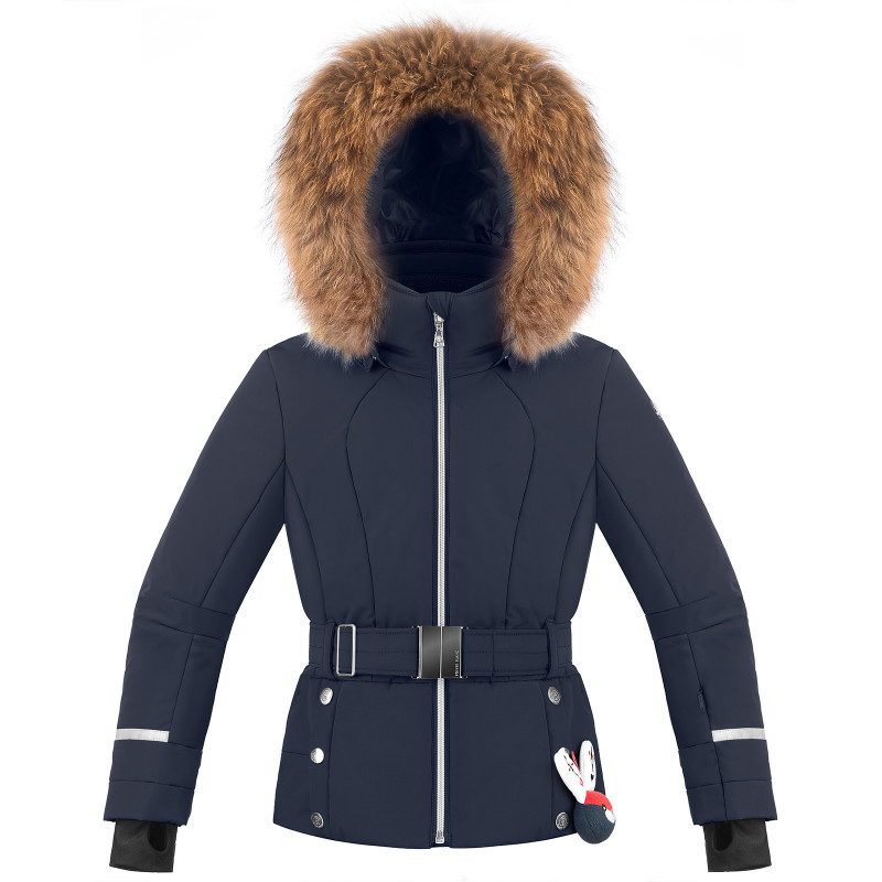 Veste de ski Poivre Blanc avec ceinture 1008-JRGL/B Gothic Blue3 Fille