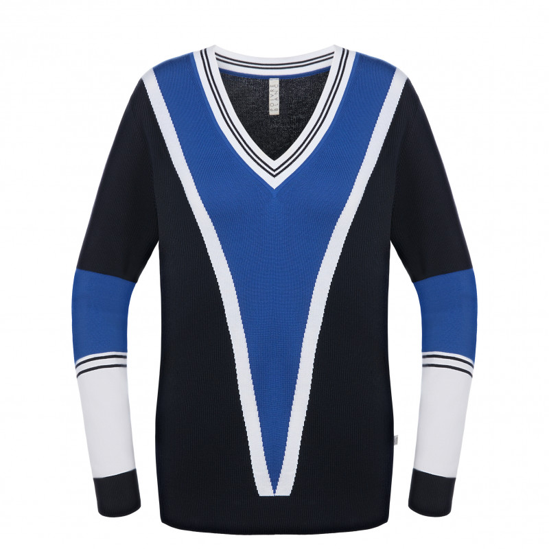 Pull en maille Poivre Blanc 6102 Multico Blue Femme