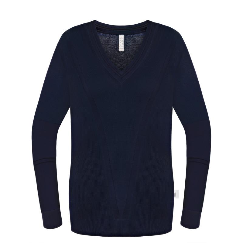 Pull en maille Poivre Blanc 6102 Oxford Blue Femme