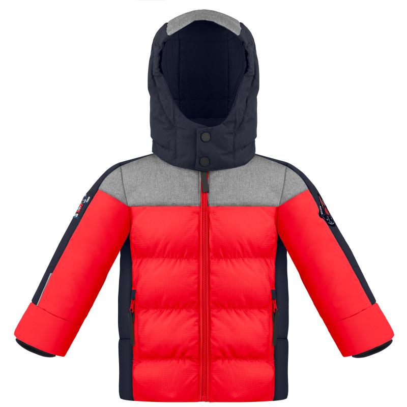 Veste de Ski Poivre Blanc SyntheticDownJacket 1215 multico scarlet red Garçon