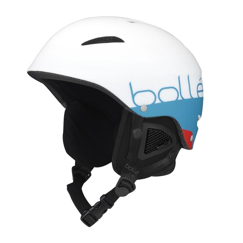 Casque de Ski/Snow Bollé B-Style Matte White & Blue 58-61
