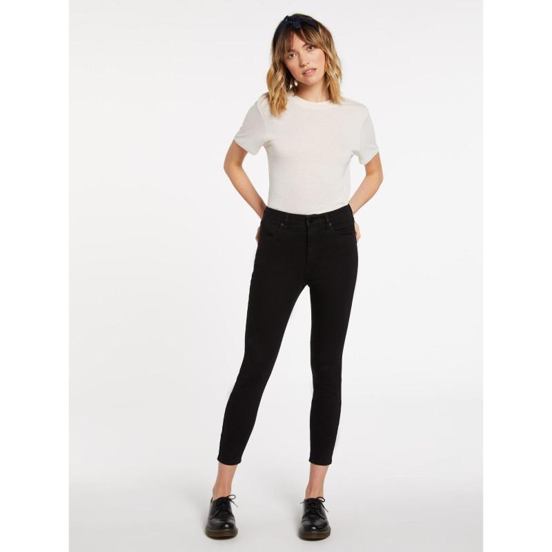 Pantalon Volcom Liberator High Rise Premium Wash Black Femme