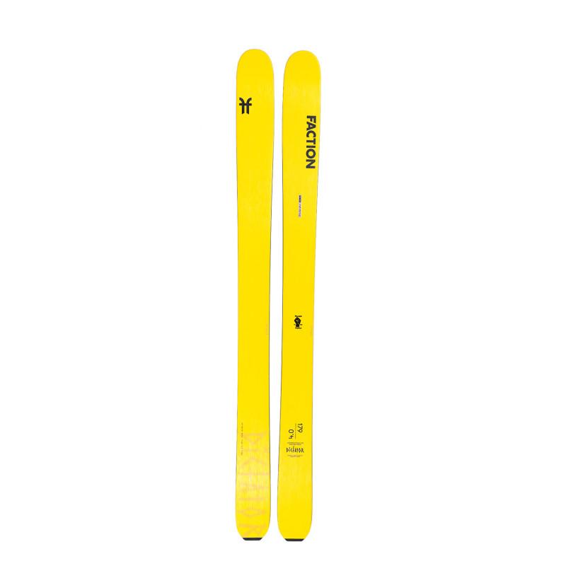 Ski Seul Faction (Sans Fixation) Dictator 4.0 Homme Jaune