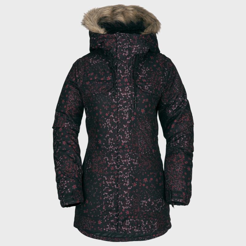Veste Femme de Ski / Snow Volcom SHADOW INS BLACK FLORAL PRINT