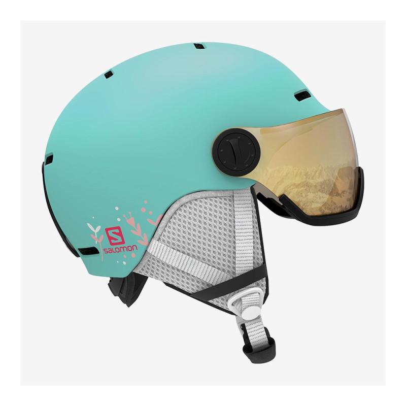 Casque de Ski Salomon GROM VISOR Bleu Enfant