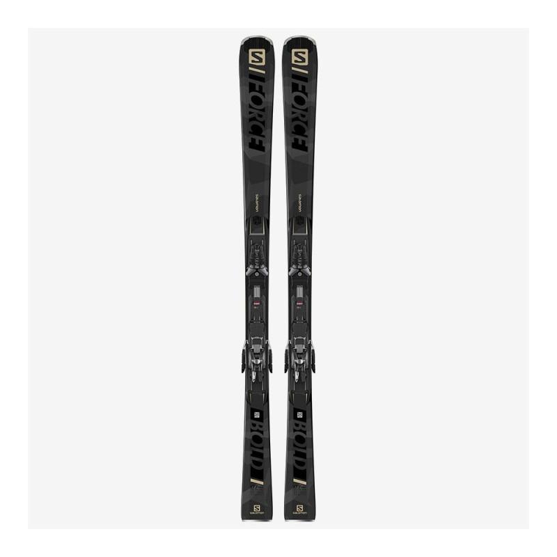 Pack Ski Salomon X S/FORCE BOLD + Fixations X12 TL GW Gris Homme