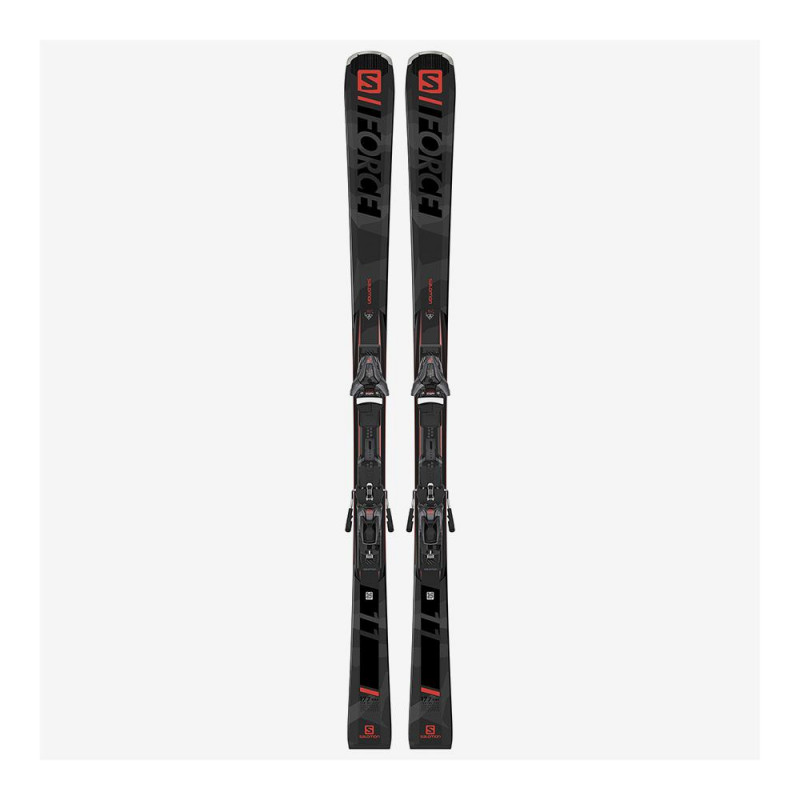 Pack Ski Salomon E S/FORCE 11 + Fixations Z12 GW F80 Gris Homme