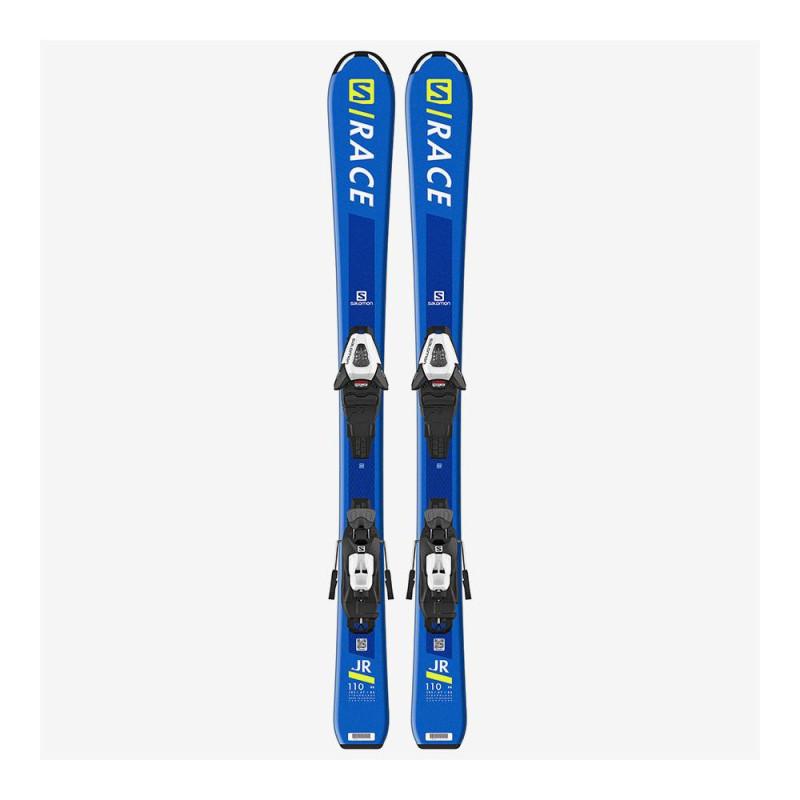 Pack Ski Salomon L S/RACE Jr S + Fixations C5 GW J75 Bleu Enfant