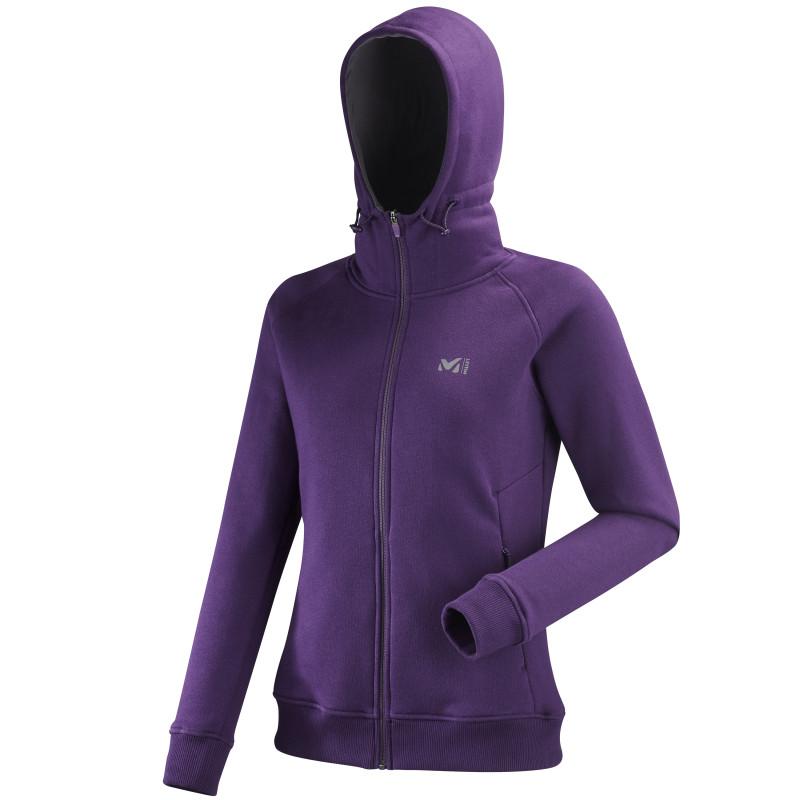 Sweat Millet Cozy Fleece Full Zip Hoodie Violet Femme