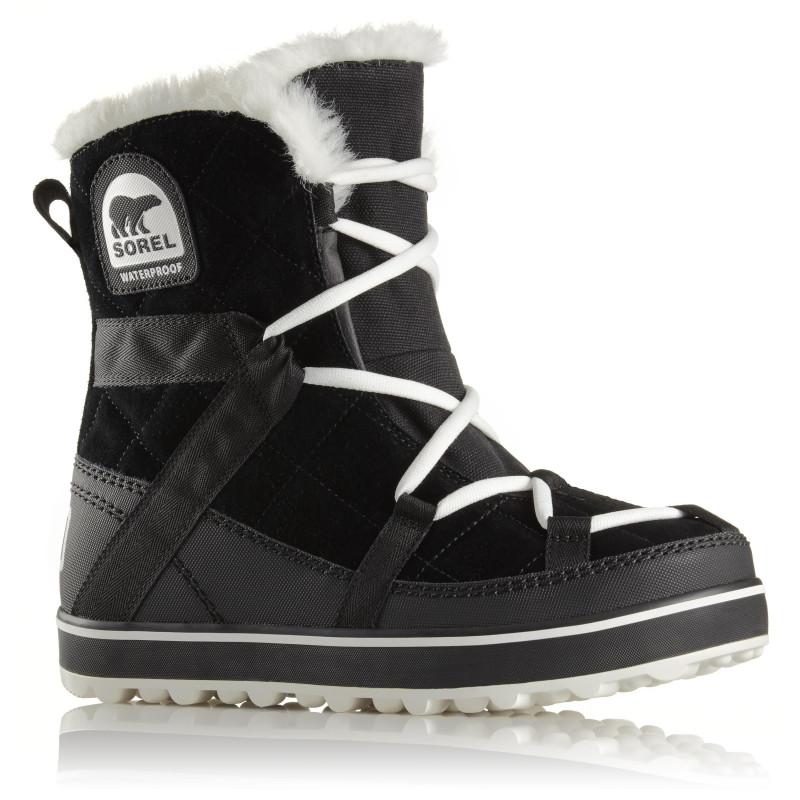 Après Ski Femme Sorel Glacy Explorer Shortie Black