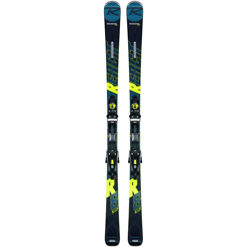 Pack Ski Rossignol REACT R8 HP + Fixations NX12 K.GW Homme Noir