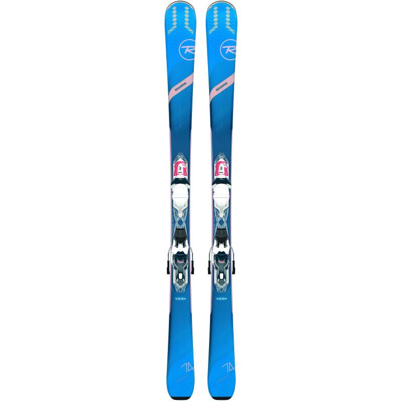 Pack Ski Rossignol EXPERIENCE 74 W K + Fixations XP W 10 Femme Vert