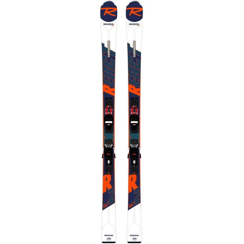 Pack ski Rossignol REACT R2 PREMIUM + Fixations XP10 GW BK Homme Blanc