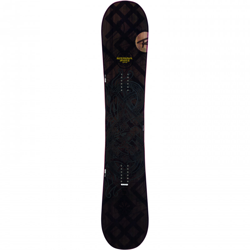 Pack Snowboard Rossignol ANGUS WIDE + Fixations COBRA M/L Homme Marron