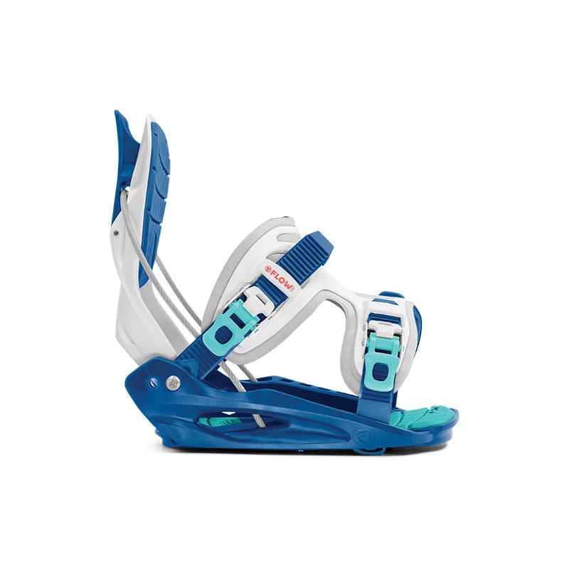 Fixations de Snowboard Flow MICRON YOUTH Enfant Bleu