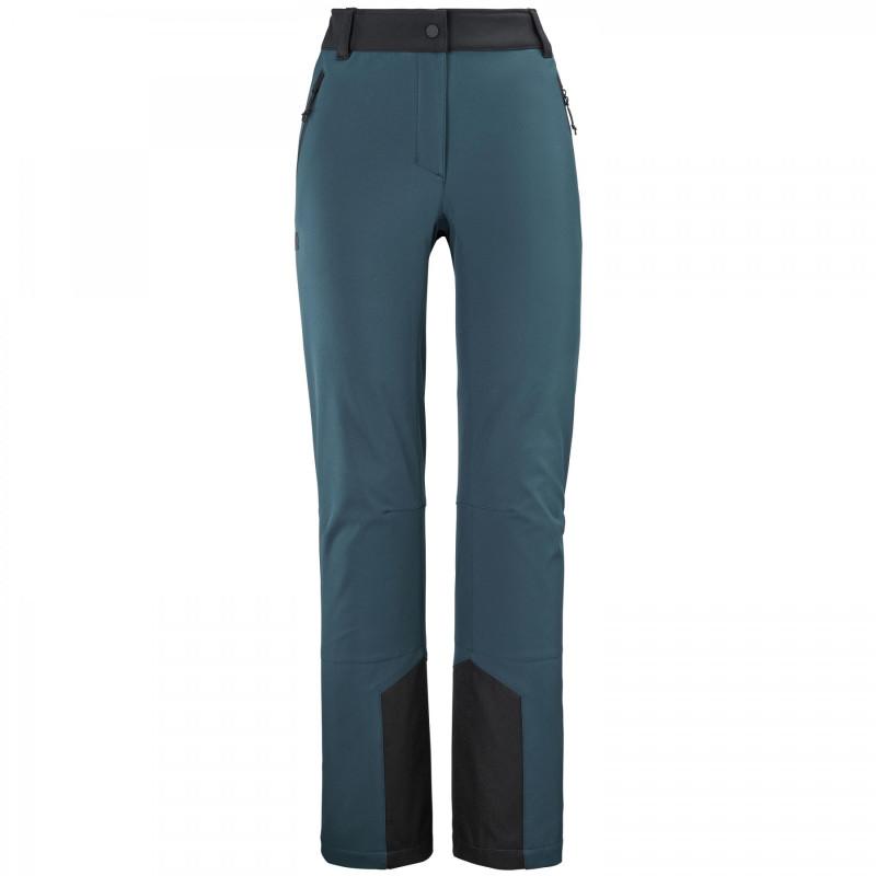 Pantalon Softshell Millet TRACK III Orion Blue-Noir Femme