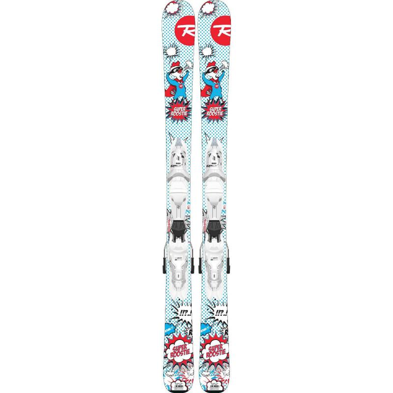 Pack de Ski Rossignol Super Roostie + Fixations KID-X 4 B76 Enfant Bleu