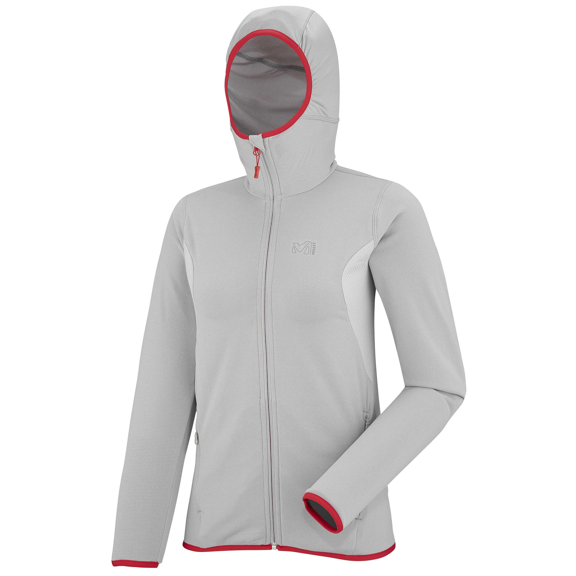 Sweat Micropolaire Millet LD TECH STRETCH LIGHT HOODIE METAL GREYSTORM GREY Femme