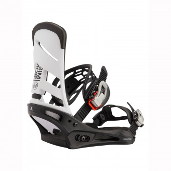 Fixations de Snowboard Burton Mission White Black Homme