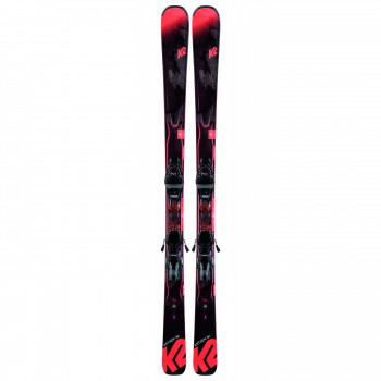 Pack Ski K2 ANTHEM 80 + Fixations ERC 11 TCx LIGHT QUIKCLIK Femme Noir