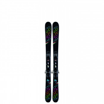 Pack Ski K2 DREAMWEAVER + Fixations 4.5 FDT JR Enfant Noir