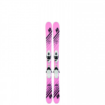 Pack Ski K2 MISSY + Fixations 4.5 FDT JR Enfant Noir