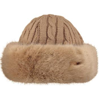 Bonnet Barts Fur Cable Bandhat light brown Femme