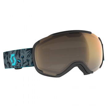 Masque de Ski / Snow Scott Faze II Light Sensitive black/cyan blue / light sensitive bronze