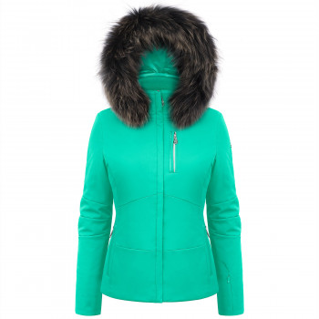 Veste de ski Poivre Blanc à coupe ajustée 0802-WO/B Emerald Green Femme