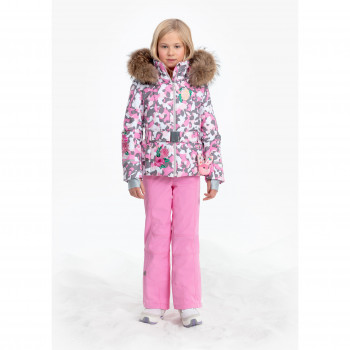 Veste De Ski Poivre Blanc 1008 Pink Camou Fille