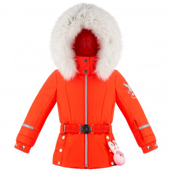 Veste De Ski Poivre Blanc 1008 Clementine Orange Fille