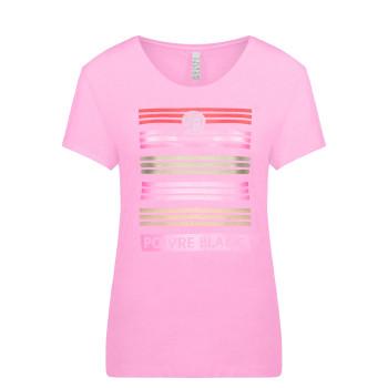 T-Shirt Poivre Blanc 4402 Bubble Pink Femme