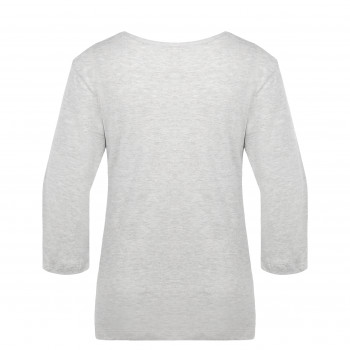 T-shirt Poivre Blanc T-SHIRT3/4SLEEVE 4403 melange grey Femme