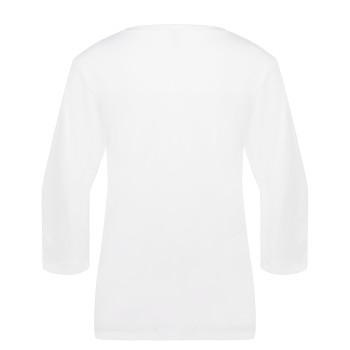 T-shirt Poivre Blanc T-SHIRT3/4SLEEVE 4403 white Femme