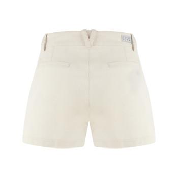 Short stretch en coton biologique Poivre Blanc 2628 Moon Grey Femme
