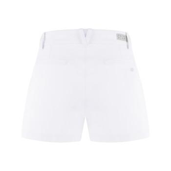 Short stretch en coton biologique Poivre Blanc 2628 White Femme