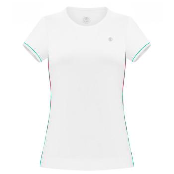T-shirt en jersey Meryl stretch Poivre Blanc 4803 White Emerald Green2 Femme