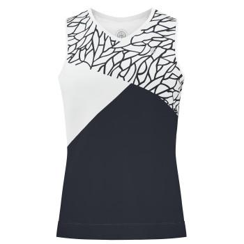 Débardeur en jersey Meryl stretch Poivre Blanc 4801 Fancy Blue Femme