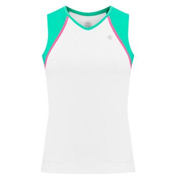 Débardeur en jersey Meryl stretch Poivre Blanc 4801 White Emerald Green2 Femme