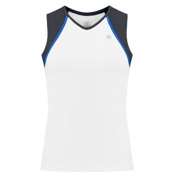 Débardeur en jersey Meryl stretch Poivre Blanc 4801 White Oxford Blue Femme