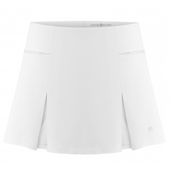 Jupe-short en piqué Meryl stretch Poivre Blanc 4829 White Femme