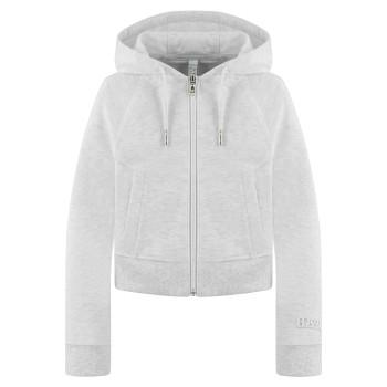 Veste a Capuche Poivre Blanc 5200 Melange Grey Fille