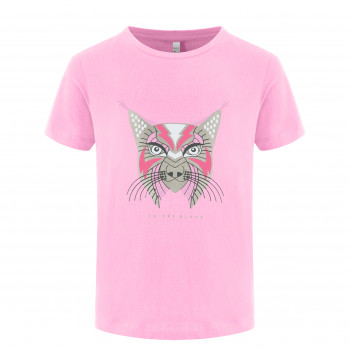 T-shirt Poivre Blanc T-shirt 4402 lynx bubble pink Fille