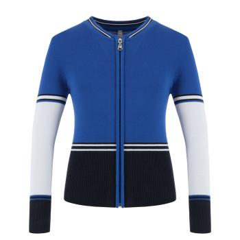 Veste en Maille Poivre Blanc JACKET 6100 multico blue Fille