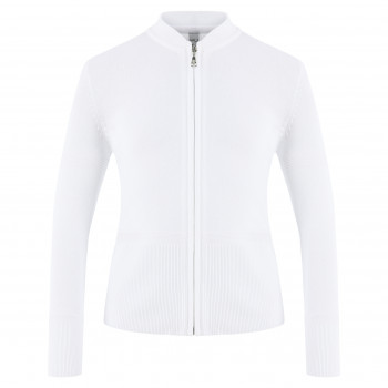 Veste en Maille Poivre Blanc JACKET 6100 white Fille